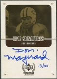 1999 Upper Deck Century Legends #MYC Don Maynard Epic Signatures Century Gold Auto #013/100