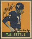 1997 Leaf Reproductions #22 Y.A. Tittle Auto #289/500