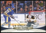 2011/12 Upper Deck Exclusives #181 Drew Stafford /100