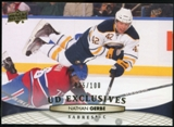 2011/12 Upper Deck Exclusives #185 Nathan Gerbe /100