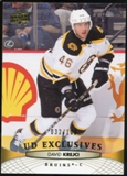 2011/12 Upper Deck Exclusives #191 David Krejci /100