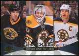 2011/12 Upper Deck Exclusives #200 Milan Lucic/Tim Thomas/Zdeno Chara /100