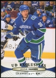 2011/12 Upper Deck Exclusives #269 Jannik Hansen /100