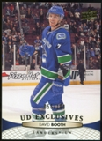 2011/12 Upper Deck Exclusives #272 David Booth /100