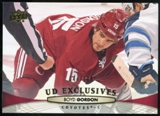 2011/12 Upper Deck Exclusives #313 Boyd Gordon /100