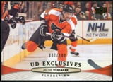 2011/12 Upper Deck Exclusives #319 Jakub Voracek /100