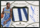 2012/13 Immaculate Collection #IG Andre Iguodala Jumbo Patch Auto #68/75