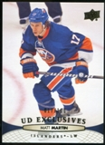 2011/12 Upper Deck Exclusives #341 Matt Martin /100