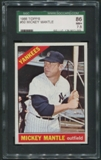1966 Topps Baseball #50 Mickey Mantle SGC 86 (NM+ 7.5) *2003