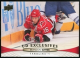 2011/12 Upper Deck Exclusives #420 Brandon Sutter /100