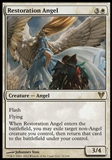 Magic the Gathering Avacyn Restored Single Restoration Angel FOIL - SLIGHT PLAY (SP)