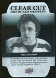 2011/12 Upper Deck Clear Cut Honoured Members #HOF3 Phil Esposito /100