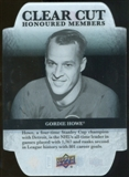 2011/12 Upper Deck Clear Cut Honoured Members #HOF12 Gordie Howe /100