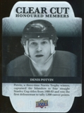 2011/12 Upper Deck Clear Cut Honoured Members #HOF29 Denis Potvin /100
