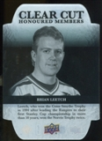 2011/12 Upper Deck Clear Cut Honoured Members #HOF30 Brian Leetch /100