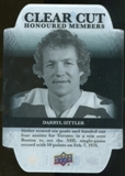 2011/12 Upper Deck Clear Cut Honoured Members #HOF38 Darryl Sittler /100