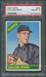 1966 Topps Baseball #598 Gaylord Perry SP PSA 8 (NM-MT) *5570
