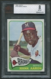 1965 Topps Baseball #170 Hank Aaron BVG 8 (NM-MT) *9234