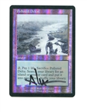 Magic the Gathering Onslaught Single Polluted Delta ARTIST SIGNED FOIL - MODERATE PLAY