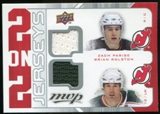 2008/09 Upper Deck MVP Two on Two Jerseys #J2SJGL Zach Parise/Brian Rolston/Brendan Shanahan/Scott Gomez