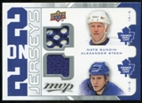 2008/09 Upper Deck MVP Two on Two Jerseys #J2SSTS Mats Sundin/Alexander Steen/Vesa Toskala/Matt Stajan