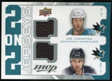 2008/09 Upper Deck MVP Two on Two Jerseys #J2TCPG Joe Thornton/Jonathan Cheechoo/Ryan Getzlaf/Corey Perry