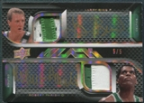 2008/09 UD Black #QAJBSTN Robert Parish Larry Bird Paul Pierce Kevin Garnett Patch Auto #5/5