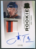 2009/10 The Cup #180 John Tavares Rookie Gold Rainbow Patch Auto #17/91