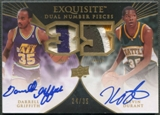 2007/08 Exquisite Collection #GD Darrell Griffith & Kevin Durant Rookie Patch Auto #24/35