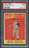 1958 Topps Baseball #487 Mickey Mantle All Star PSA 2 (GOOD) *1900