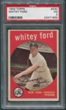 1959 Topps Baseball #430 Whitey Ford PSA 3 (VG) *1899