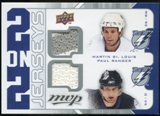 2008/09 Upper Deck MVP Two on Two Jerseys #J2SBHR Martin St. Louis/Paul Ranger/Nathan Horton/Jay Bouwmeester