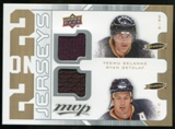 2008/09 Upper Deck MVP Two on Two Jerseys #J2SNGG Teemu Selanne/Ryan Getzlaf/Scott Niedermayer/Jean-Sebastien