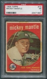 1959 Topps Baseball #10 Mickey Mantle PSA 1 (PR) *1897