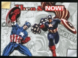 2014 Upper Deck Marvel Now Then and Now #TNLE Captain America