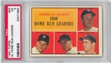 1961 Topps Baseball #44 AL Home Run Leaders PSA 5 (EX) *1890