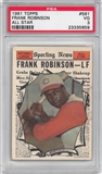 1961 Topps Baseball #581 Frank Robinson All Star PSA 3 (VG) *5659