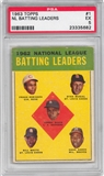 1963 Topps Baseball #1 NL Batting Leaders PSA 5 (EX) *5682