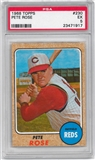 1968 Topps Baseball #230 Pete Rose PSA 5 (EX) *1917