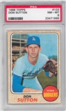 1968 Topps Baseball #103 Don Sutton PSA 8 (NM-MT) *1868