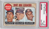 1968 Topps Baseball #4 AL RBI Leaders PSA 8 (ST) (NM-MT) *1869