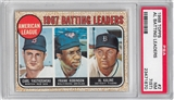1968 Topps Baseball #4 AL Batting Leaders PSA 7(ST) (NM) *1870