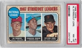 1968 Topps Baseball #4 NL Strikeout Leaders PSA 8 (NM-MT) *1871