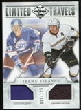 2012/13 Panini Limited Travels Dual Jerseys #TDTS Teemu Selanne /199