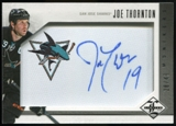 2012/13 Panini Limited Monikers Silver #MJH Joe Thornton Autograph /49