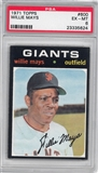 1971 Topps Baseball #600 Willie Mays PSA 6 (EX-MT) *5624
