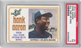 1974 Topps Baseball #1 Hank Aaron All Time HR King PSA 5 (EX) *5620