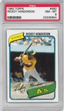 1980 Topps Baseball #482 Rickey Henderson Rookie PSA 8 (NM-MT) *5604