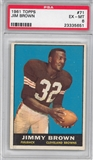 1961 Topps Football #71 Jim Brown PSA 6 (EX-MT) *5651