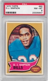 1970 Topps Football #90 O.J. Simpson Rookie PSA 8 (NM-MT) *5647